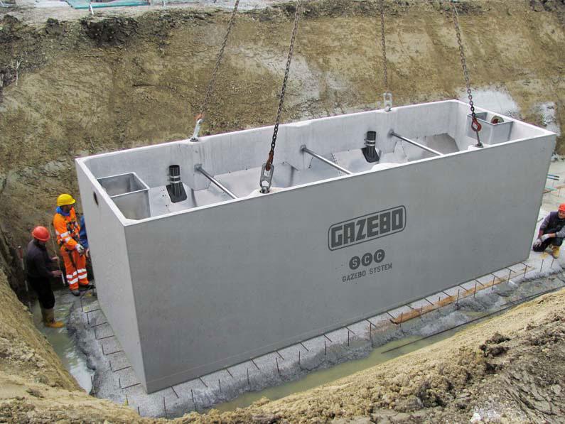 Fosse imhoff in cemento calcestruzzo autocompattante scc for Fosse settiche in cemento