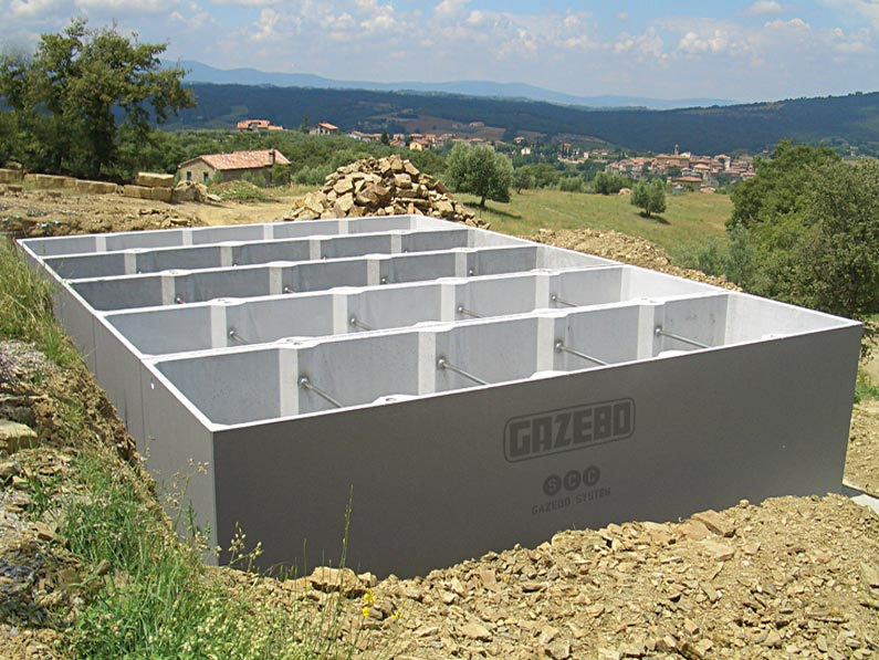 vasche prefabbricate in cemento armato c a gazebo