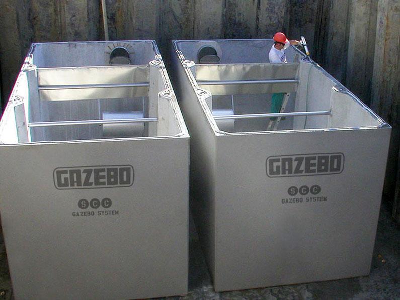 Vasche prefabbricate in cemento armato c a gazebo for Piscina fuori terra 3x2